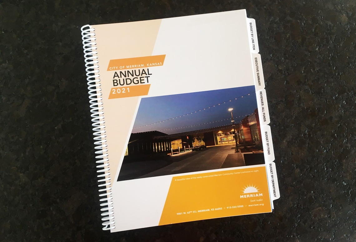 Merriam's 2021 printed budget book