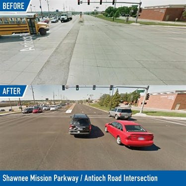 Shawnee Mission Parkway / Antioch Road Intersection